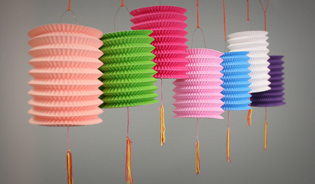 15cm Paper Lanterns Mixed colours x10pcs