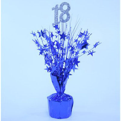 18th birthday blue centrepiece ideal for 18th birthday parties for 18th decoration ideas