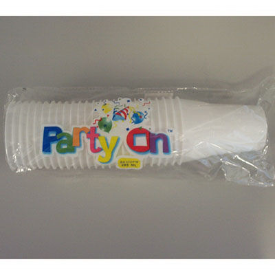 Plastic cups white 285ml / 10oz extra strong