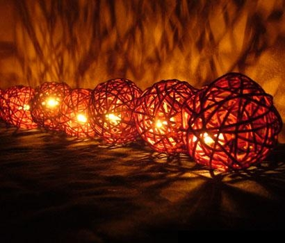 Rattan Ball-Style Fairy Lights