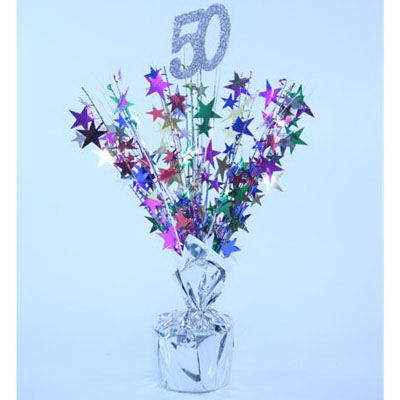 50th birthday centrepiece