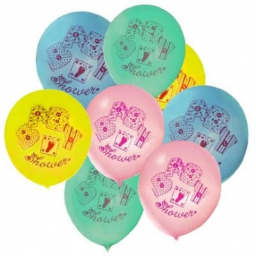 30cm Baby Shower Balloons Mixed Colours