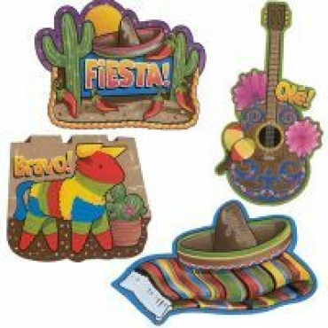 Assorted Mexican Fiesta Cutouts ( 4 )