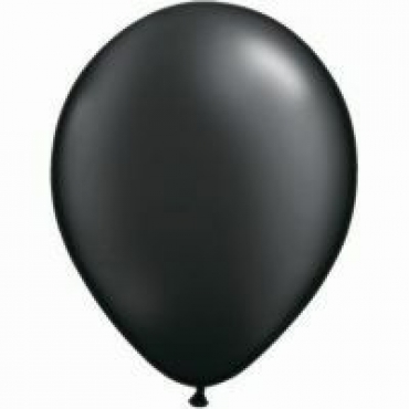 28cm Black Metallic Latex Balloons