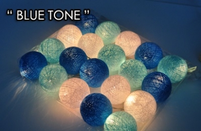 Blue/White tone string lights