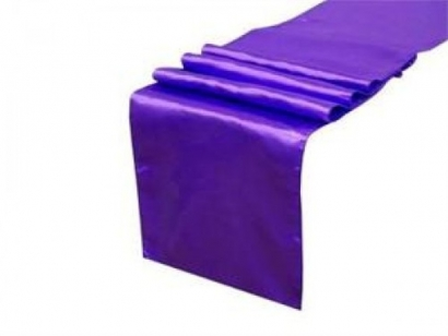 Purple Satin Table Runner