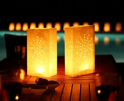 Beautiful Candle Bag Lanterns (10pcs)