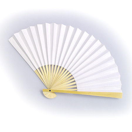 white paper folding fans lovely wedding decorations