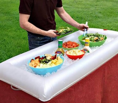 Inflatable and Portable Salad Bar/Buffet Table Top/Cooling Station - Keep Food and Drinks Fresh and Cool