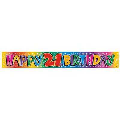21st Birthday Banner-Fun decoration for 21st birthday parties