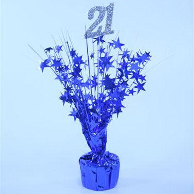 21st Birthday Blue Centrepiece