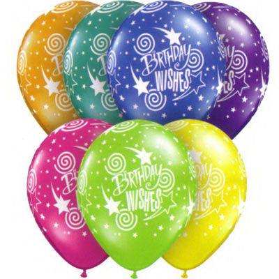 (Pack of 10) Birthday wishes balloons