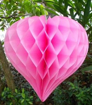 Pink Heart Honeycomb