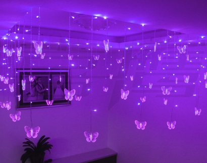 Purple Butterfly LED lights