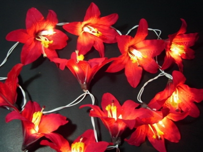 Red Lily String Light