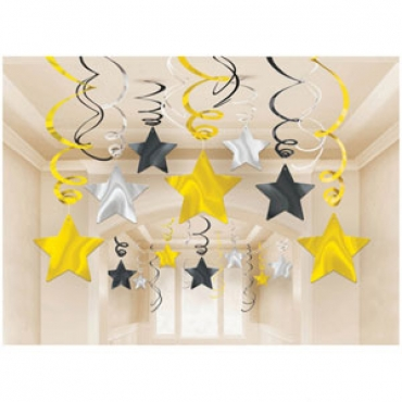 Shooting stars hanging decorations