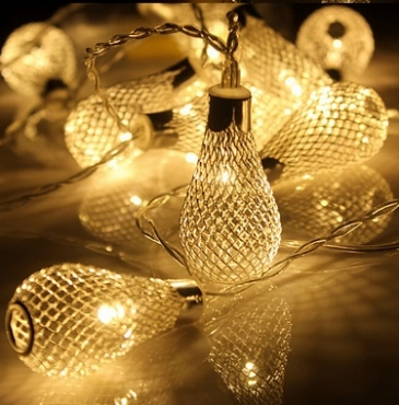 Warm white Battery Operated stylish led string LED Metal Drip String Lights
