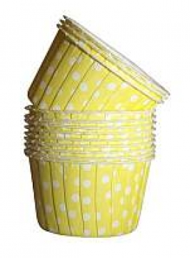 Yellow polka Dot Cupcake Liners
